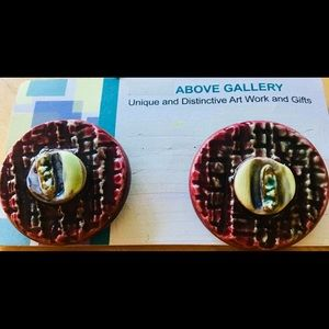 Earrings Art Gallery Clay Molded and Fired - WOW!!